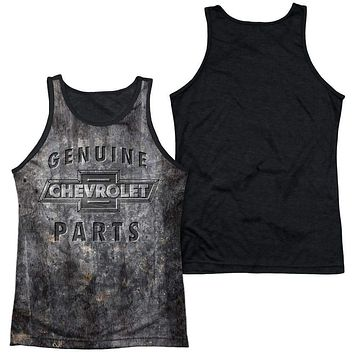 Chevy Metal Bowtie Black Backed Mens Tank Top