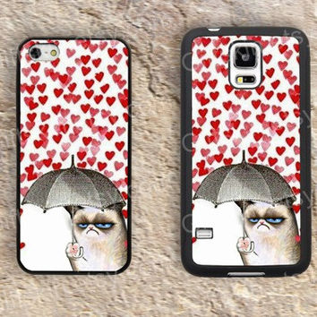 Heart case cat case  iphone 4 4s iphone  5 5s iphone 5c case samsung galaxy s3 s4 case s5 galaxy note2 note3 case cover skin 167