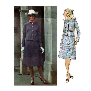 1960s VOGUE JACKET SKiRT PATTERN Womens Suit Pattern Designer Jean Patou Vogue 2517 Paris Original Bust 36 Womens Sewing Patterns INC0MPLETE