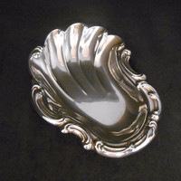 Gorham Sterling Silver Nut Candy Dish Bowl Vintage Shell Plume Home Decor Entertaining