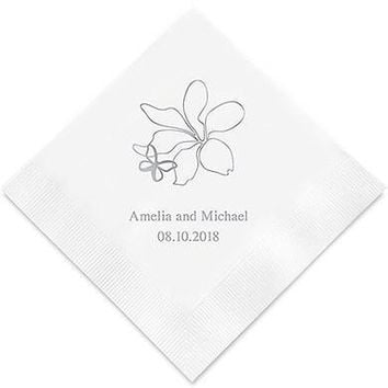 Floral Butterfly Printed Paper Napkins (Sets of 80-100)