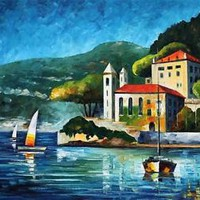 ITALY, LAKE COMO - VILLA BALBIANELLO —  Oil Painting On Canvas By Leonid Afremov