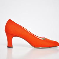 Mid-Century Bright Orange Heels by Craft Modes