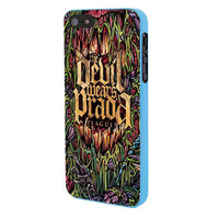 Devil Wears Prada Band Cover Album Plagues iPhone 5 Case Framed Blue