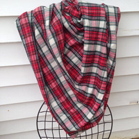 Christmas Blanket Scarf-Shawl-Women's blanket scarf-Plaid Scarf-Winter Scarf-Handmade-Chunky Scarf-Gifts for Her-Christmas Scarf-Wrap