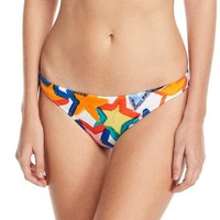 MILLY St. Lucia Star-Print Swim Bikini Bottoms Multi $85