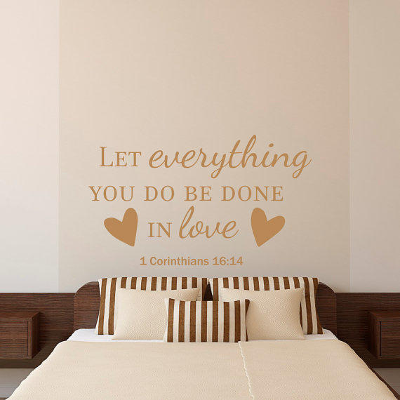 Bible quotes for wall decor : Bible verse quotes wall decal let from fabwalldecals on etsy