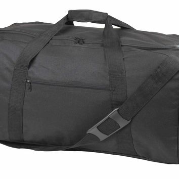 "DALIX 31"" Extra Large Duffle Bag Outdoors Sports Gym Bag in Black (Turns Into Backpack)"