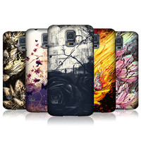 HEAD CASE FLORAL DRIPS PROTECTIVE SNAP-ON CASE FOR SAMSUNG GALAXY S5