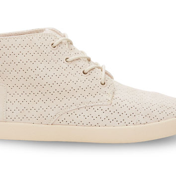 TOMS Whisper Suede Perforated Women's Paseo High Natural