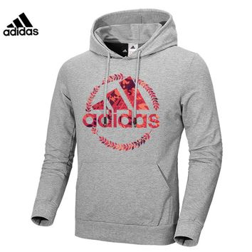ADIDAS 2018 autumn and winter new men's shirt casual sports pullover Grey