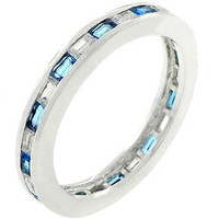 Sapphire Eternity Ring, size : 05