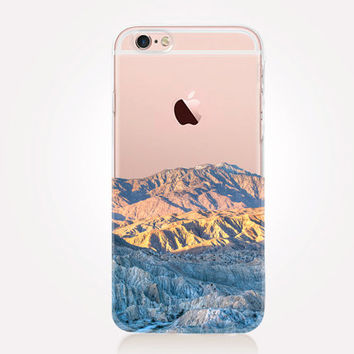 Transparent Pastel Mountains iPhone Case Transparent Case - Clear Case - Transparent iPhone 6 - Transparent iPhone 5 - Transparent iPhone 4