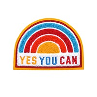 Yes You Can Rainbow Chenille Back Patch