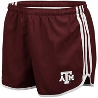 adidas Texas A&M Aggies Ladies Maroon Princess Running Shorts