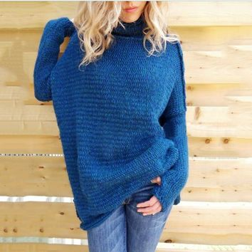 2017 autumn and winter women's new round neck long-sleeved solid color knitting sets [62982193177]