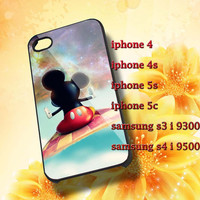 disney mickey mouse galaxy nebula Hard plastic and Rubber case iphone 4/4s,5/5s,5c,Samsung S3 i9300,S4 i9500
