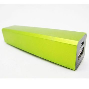 Green 2200mAh External Battery Pack High Capacity Power Bank Charger 5V 1A output for Apple iPhone 5 iPhone 4 4s 3Gs 3G, iPod Touch / Samsung Galaxy S3 S S2 S II, Galaxy Nexus, Epic 4G / Blackberry Torch Bold Curve / HTC Sensation 4G, XE, XL, One X, Thunde