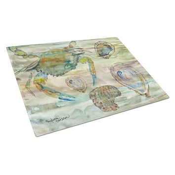 Crab, Shrimp and Oyster Sunset Glass Cutting Board Large SC2017LCB