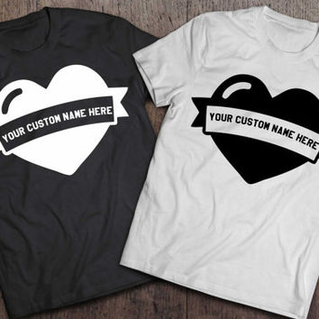 Valentine's day gift, His and hers shirts, His and hers, Couples shirts, Love shirts, Personalized shirts, Custom name shirts, UNISEX