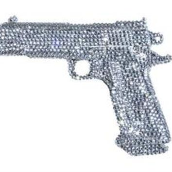 "Interior Illusions Plus Graphite Rhinestone Gun - 8.5"" long"