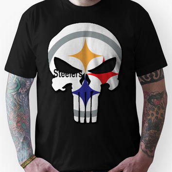 Pittsburgh Steelers Punisher Logo Unisex T-Shirt
