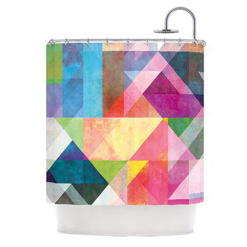 "Mareike Boehmer ""Color Blocking"" Rainbow Abstract Shower Curtain"
