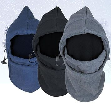 Face Mask Thermal Fleece Balaclava Hood Swat Bike wind-proof and sand-proof Stopper Hats Caps Skullies Beanies