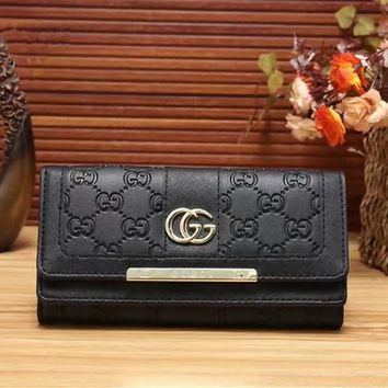 GUCCI Women Leather Multicolor Wallet Purse
