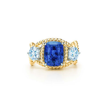 Tiffany & Co. - Tiffany & Co. Schlumberger®:Unenhanced SapphireRope Ring