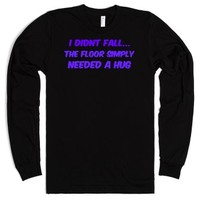 i didnt fall-Unisex Black T-Shirt