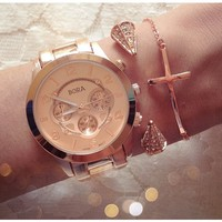 Rose-Gold Chronograph Watch — Sab Accessories