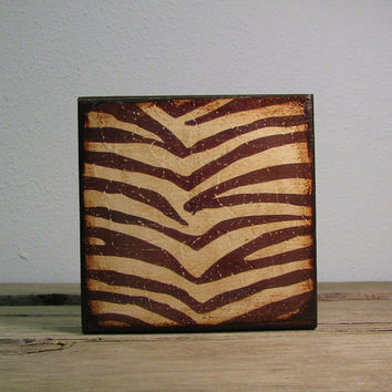 Zebra Stripes Art Block Mix and Match---MatchBlox--1748- Buy 9 or more and pay less than 25 each