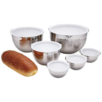 Chef's Secret 12pc T304 Stainless Steel Mixing Bowl Set