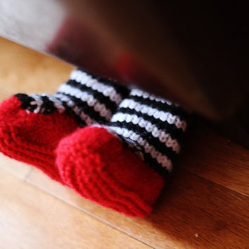 Wizard of Oz  ruby slipper baby booties for newborns and older babies, great gift idea
