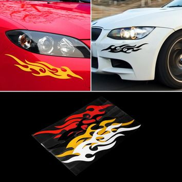 2 Pieces Universal Car Sticker Car-styling Auto Flame Fire Engine Hood Motorcycle Decal Decor Mural Vinyl Covers Accessories Hot