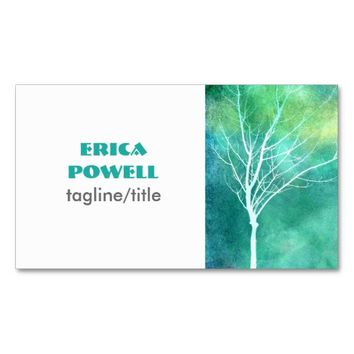 nature art business card custom double sided