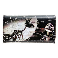 Nightmare Before Christmas Satchel Snap Close Tri-Fold Long Wallet