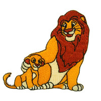 Disney's The Lion King Movie Cartoon SIMBA Embroidered Applique Iron on Patch