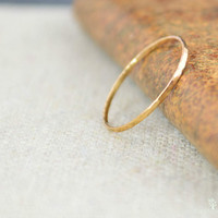 Solid 14K Rose Gold Super Thin Stacking Ring