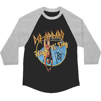 Def Leppard Men's  High 'N' Dry Baseball Jersey Grey/Black