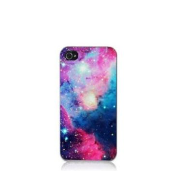 Angel Wings Galaxy Space Universe Snap On Hard Case Cover Protector for iPhone 4 4S (7) (multi)