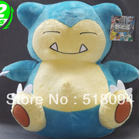 "Japanese Anime Cartoon Monsters Snorlax Plush Toy Plush Doll Figure Toy 12"" Christmas Birthday Gift Free Shipping"