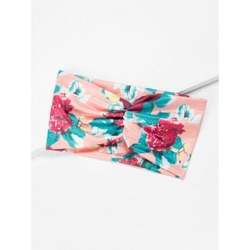 Calico Print Wide Headband