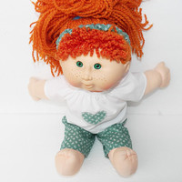 Cabbage Patch Kids, Handmade Doll Clothes for the 16 inch doll, 3 pc Green Pants Outfit
