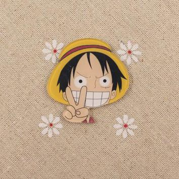One Piece Monkey D Luffy Chopper Brooch many cute expression badge pin Japan Popular anime