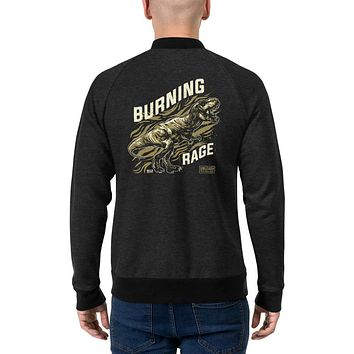Men's Vintage Streetwear Bomber Jackets Coat Winter Outfit Burning Rage