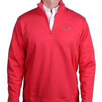 Limited Edition Jersey 1/4 Zip in Sailor's Red by Vineyard Vines