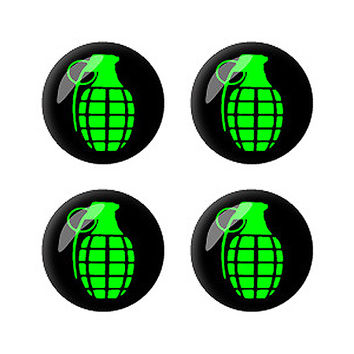 Grenade Set of 3D Stickers - No. 2