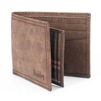 Wembley Extra-Capacity Leather Slimfold Wallet - Men